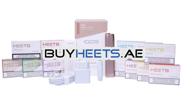 IQOS 3 Multi Kit Brilliant Gold and 12 Popular Heets Flavors