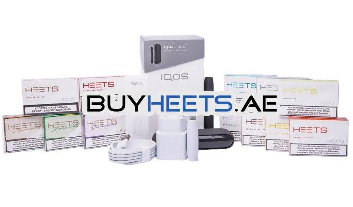 IQOS 3 DUO Velvet Grey and 12 Popular Heets Flavors